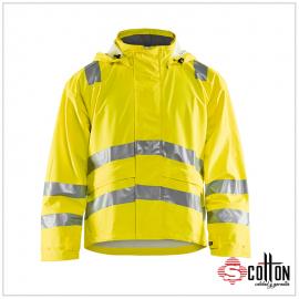 Casaca industrial alta visibilidad amarillo